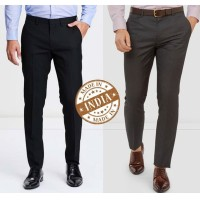 Combo Trend Setter India Elite Men's Trouser- Set of 2 Trousers