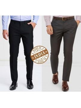 Combo Trend Setter India Elite Men's Trouser- Set of 2 Trousers